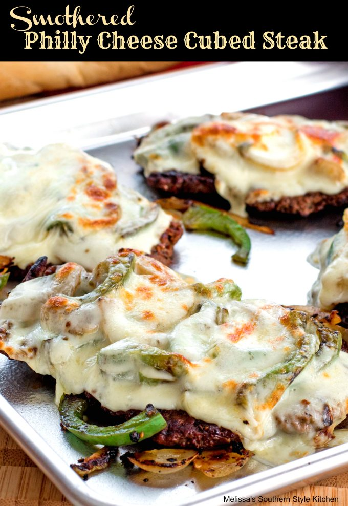 Smothered Philly Cheese Cubed Steak Melissassouthernstylekitchen Com