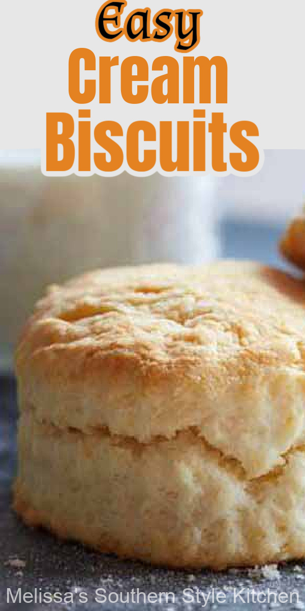 You'll only need three ingredients to makethese Easy Cream Biscuits #creambiscuits #southernbiscuits #biscuits #southernrecipes #easybiscuits #easybiscuitrecipes