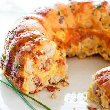 Bundt Pan Bacon Egg and Cheese Brunch Bread recipe