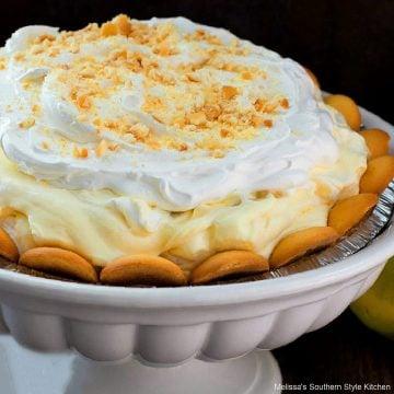 No Bake Banana Pudding Pie recipe