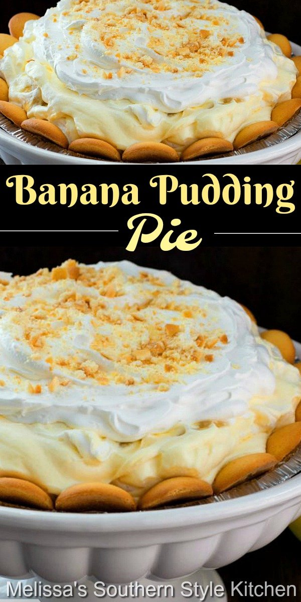 This rich and cream banana pudding pie requires no cooking at all! #bananapudding #bananapuddingpie #bananacreampie #pierecipes #nobakedesserts #desserts #southernbananapudding #southernfood #pudding #easyrecipes #bananas