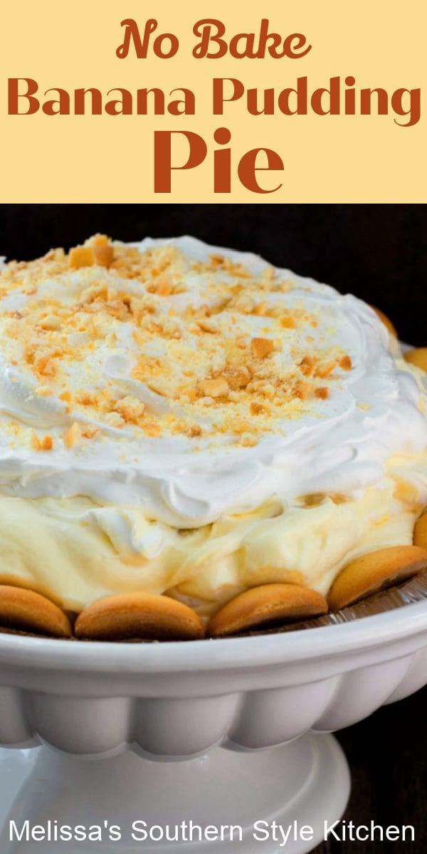 This rich and cream banana pudding pie requires no cooking at all! #bananapudding #bananapuddingpie #bananacreampie #pierecipes #nobakedesserts #desserts #southernbananapudding #southernfood #pudding #easyrecipes #bananas