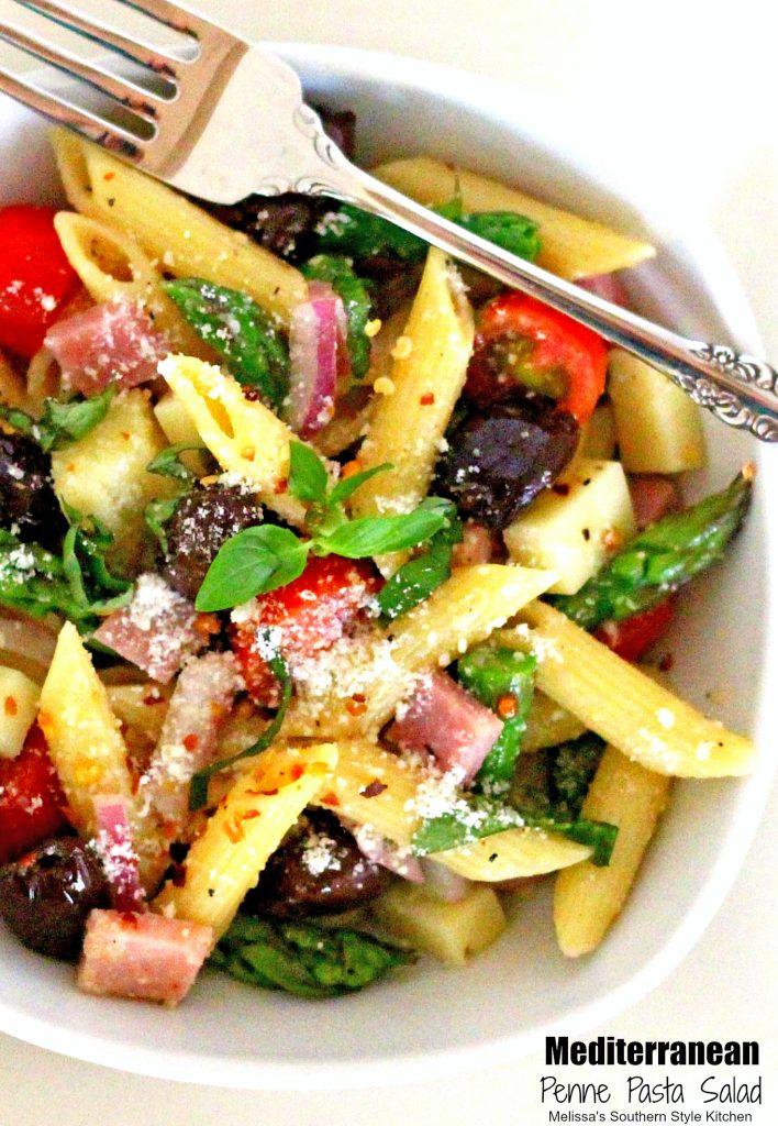mediterranean penne pasta salad melissassouthernstylekitchen com