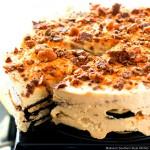 No Bake Chocolate Peanut Butter Refrigerator Cake