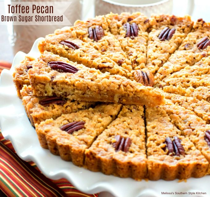 Toffee Pecan Brown Sugar Shortbread