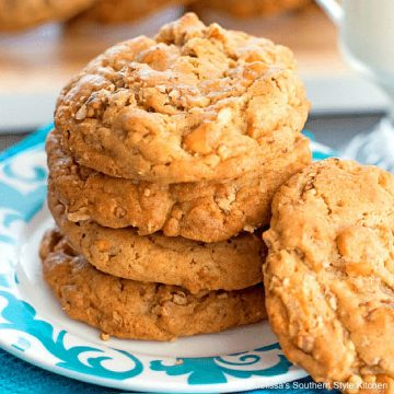 Loaded Butterscotch Toffee Pecan Cookies