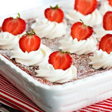 Strawberries and Cream Gooey Butter Cake recipe