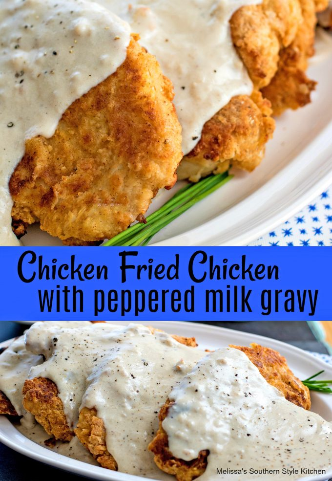 Chicken Fried Chicken with Peppered Milk Gravy