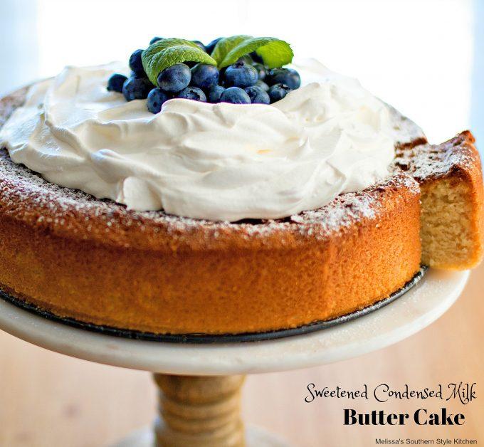 sliced butter cake