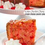 White Chocolate Cherry Cream Cheese Pound Cake Recipe