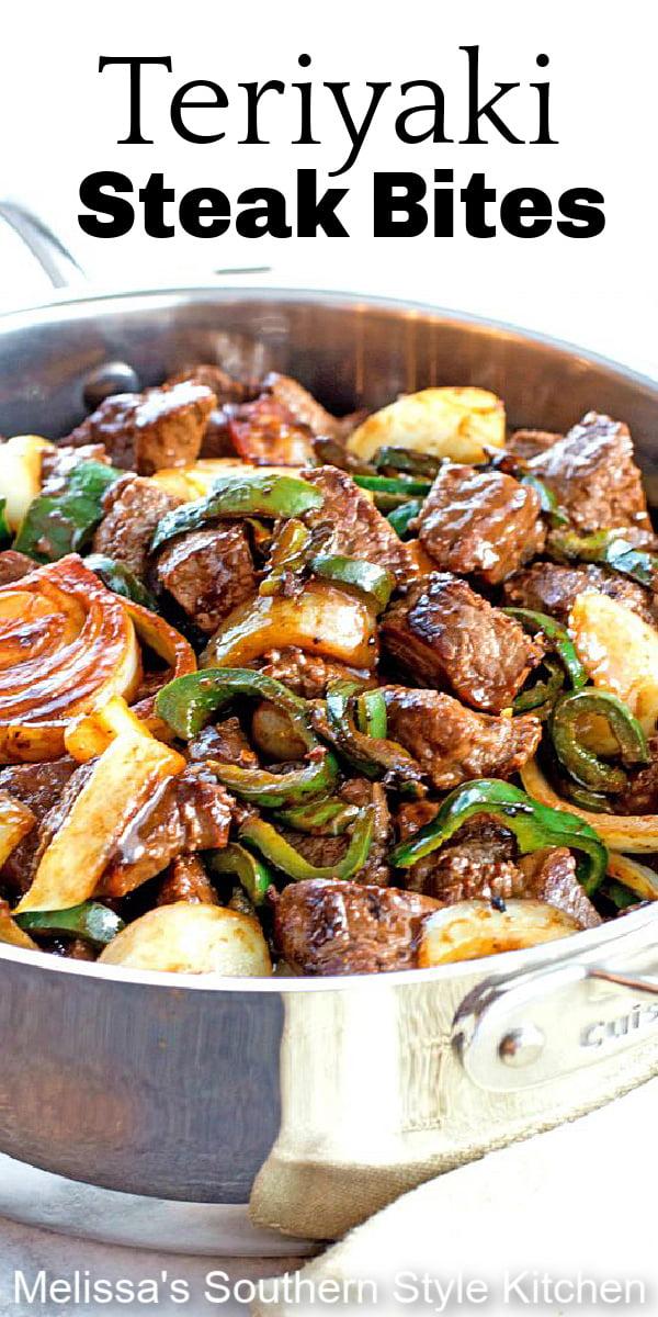 Better-than-take out Teriyaki Steak Bites With Green Pepper And Onion #steak #steakbites #teriyakisteakbites #stirfryrecipes #dinner #dinnerideas #southernrecipes #southernfood #melissassouthernstylekitchen #maindish #beef