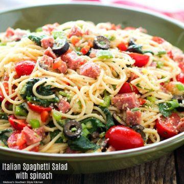 Italian Spaghetti Salad with Spinach recipe