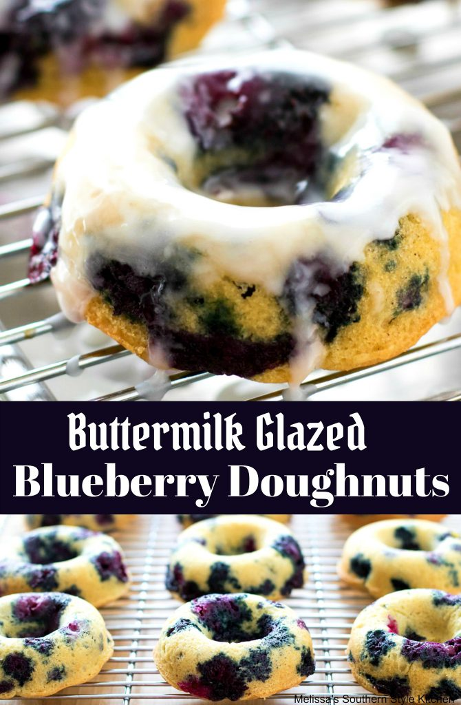 Buttermilk Glazed Blueberry Doughnuts