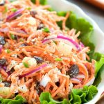 Carrot Raisin Salad with Pineapple