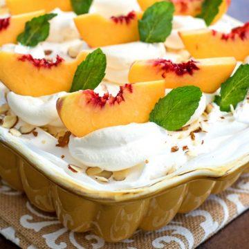 Best Peaches and Cream Poke Cake Recipe