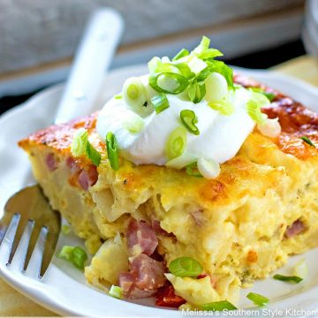 Ham and Cheese Brunch Bake