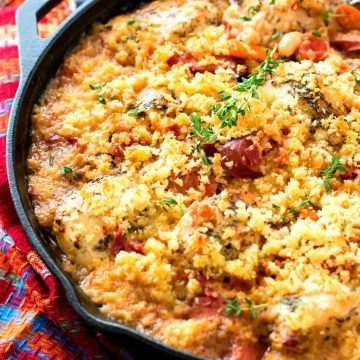 The Best Chicken and Smoked Sausage Cassoulet