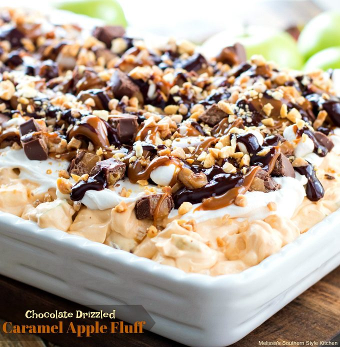 Chocolate Drizzled Caramel Apple Fluff