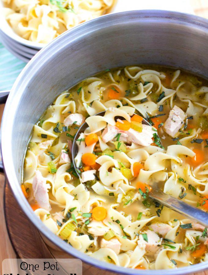 One Pot Chicken Noodle Soup