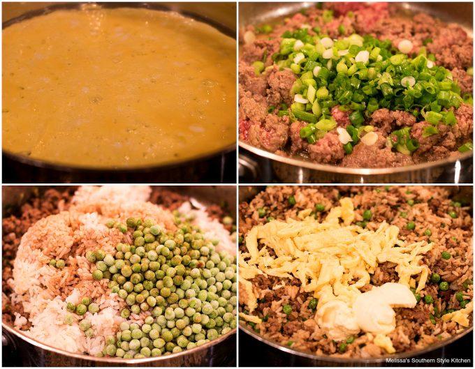 ingredients to make Teriyaki Beef Fried Rice