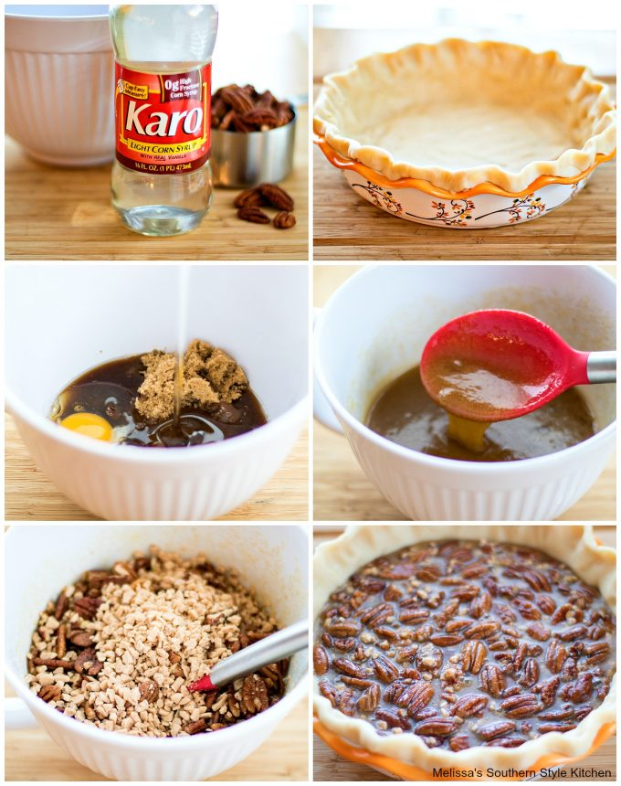step-by-step image making pecan pie