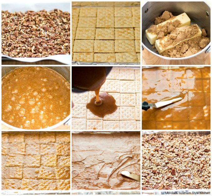 how to make Saltine Toffee with Pecans and Toffee Bits