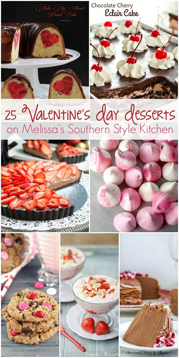 Show the love with this collection of 25 of the BEST Valentine's Day Desserts #candyh #cake #valentinesday #desserts #dessertfoodrecipes #sweets #sweetfix #southernrecipes #chocolate #chocolatecake