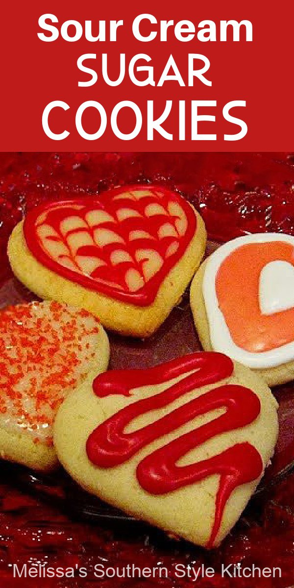 Sour Cream Sugar Cookies for your sweetheart #valentinesday #sugarcookies #desserts #bestcookierecipes #sourcreamsugarcookies #christmascookies #southernrecipes #desserts