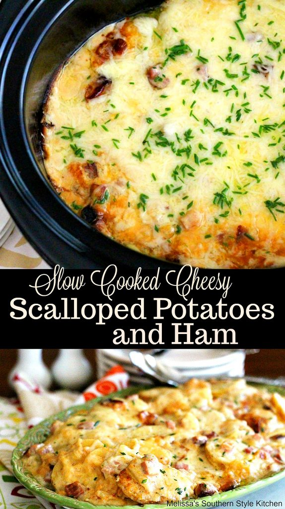 Slow Cooked Cheesy Scalloped Potatoes With Ham
