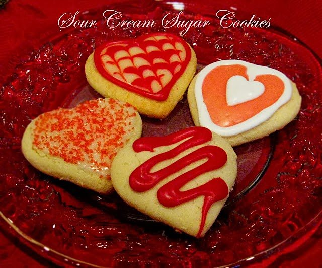 Sour Cream Sugar Cookies on a plate