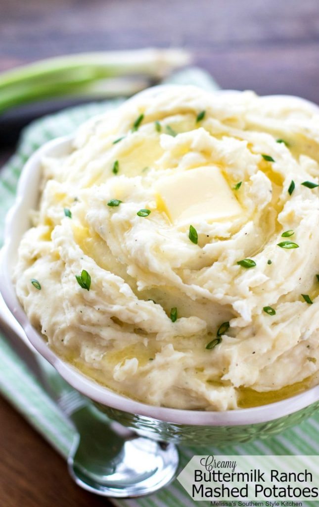 Creamy Buttermilk Ranch Mashed Potatoes