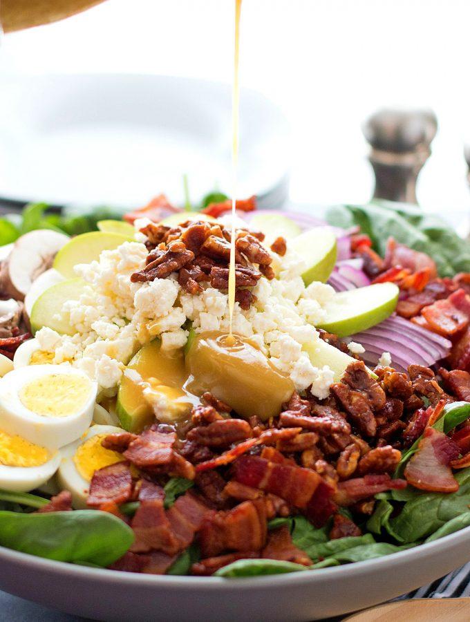Spinach Salad with Honey Dijon Vinaigrette