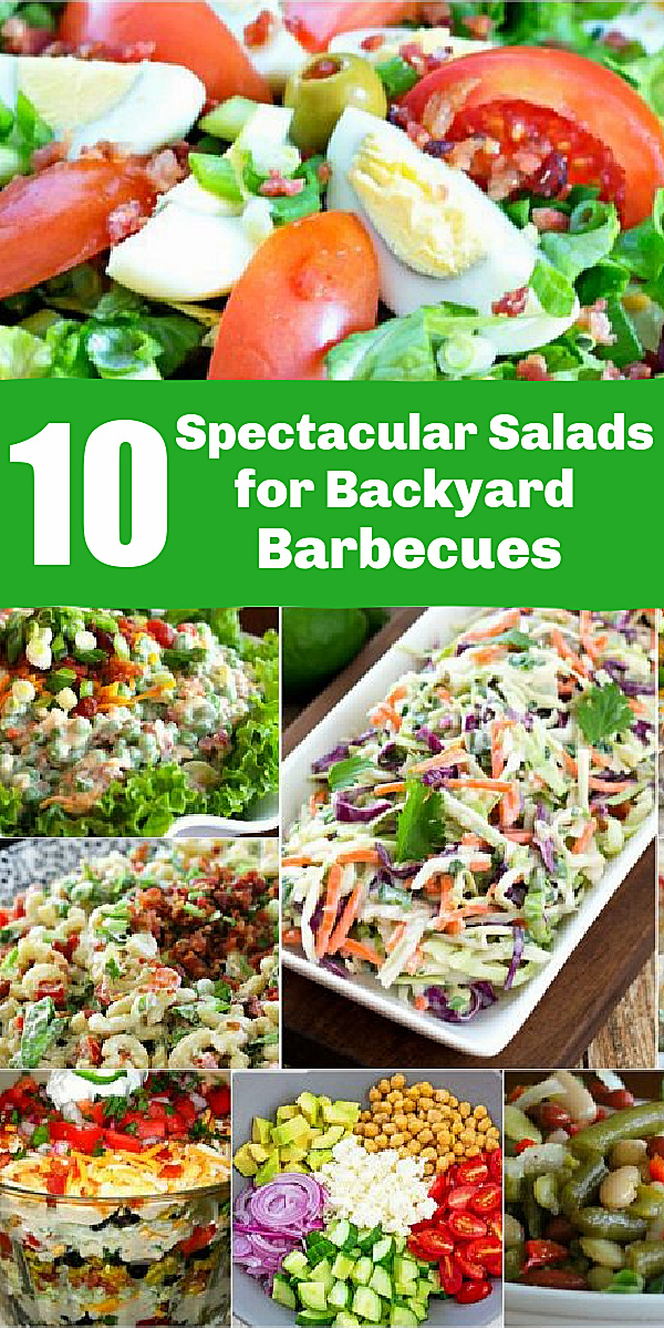Browse this mouthwatering collection of 10 Spectacular Salads for Your Memorial Day Barbecue for cookout side dish inspiration #potatosalad #macaronisalad #pastasalarecipes #memorialdayrecipes #July4threcipes #southernrecipes #grilling #sidedishes