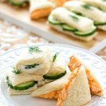 Cucumber and Pimiento Cheese Tea Sandwiches