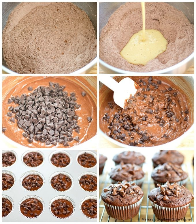 Double Chocolate Buttermilk Muffins