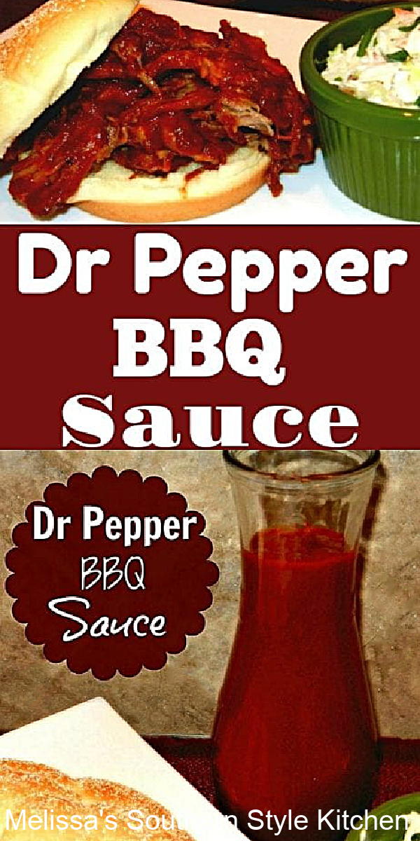 Easy-to-make and perfectly seasoned this Dr Pepper Barbecue Sauce is a go-to for beef, pork, chicken or ribs. It's finger licking good #drpepper #drpepperbarbecuesauce #bbq #bbqsauce #saucerecipes #porkbarbecue #beefbarbcue #sauces #southernrecipes
