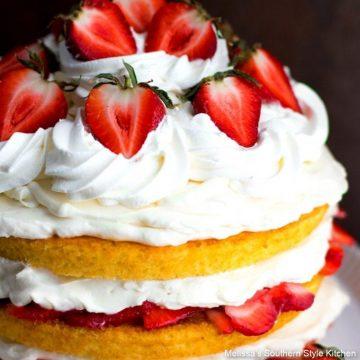 baked Strawberry Shortcake Layer Cake