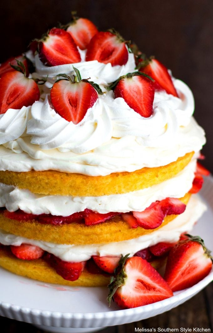 Strawberry Shortcake Layer Cake Melissassouthernstylekitchen Com
