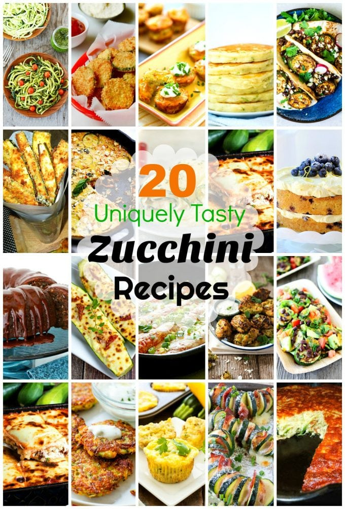 20 Uniquely Tasty Zucchini Recipes