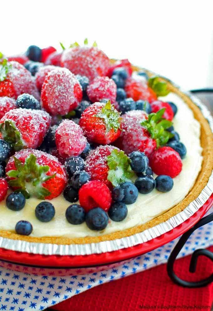 best ever No Bake Triple Berry Ice Box Pie