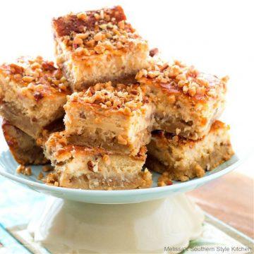 Butter Pecan Cheesecake Bars