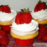 Strawberries And Cream Filled Cupcakes Recipe