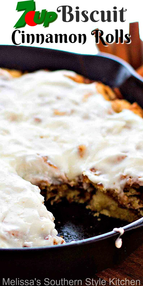 No one will ever guess the secret ingredient in these light and fluffy biscuit cinnamon rolls #cinnamonrolls #7UP #biscuits #brunch #breakfastrecipes #southernbiscuits #cinnamonbiscuits #7upcinnamonrolls #holidaybaking #holidaybrunch #southernfood #southernrecipes