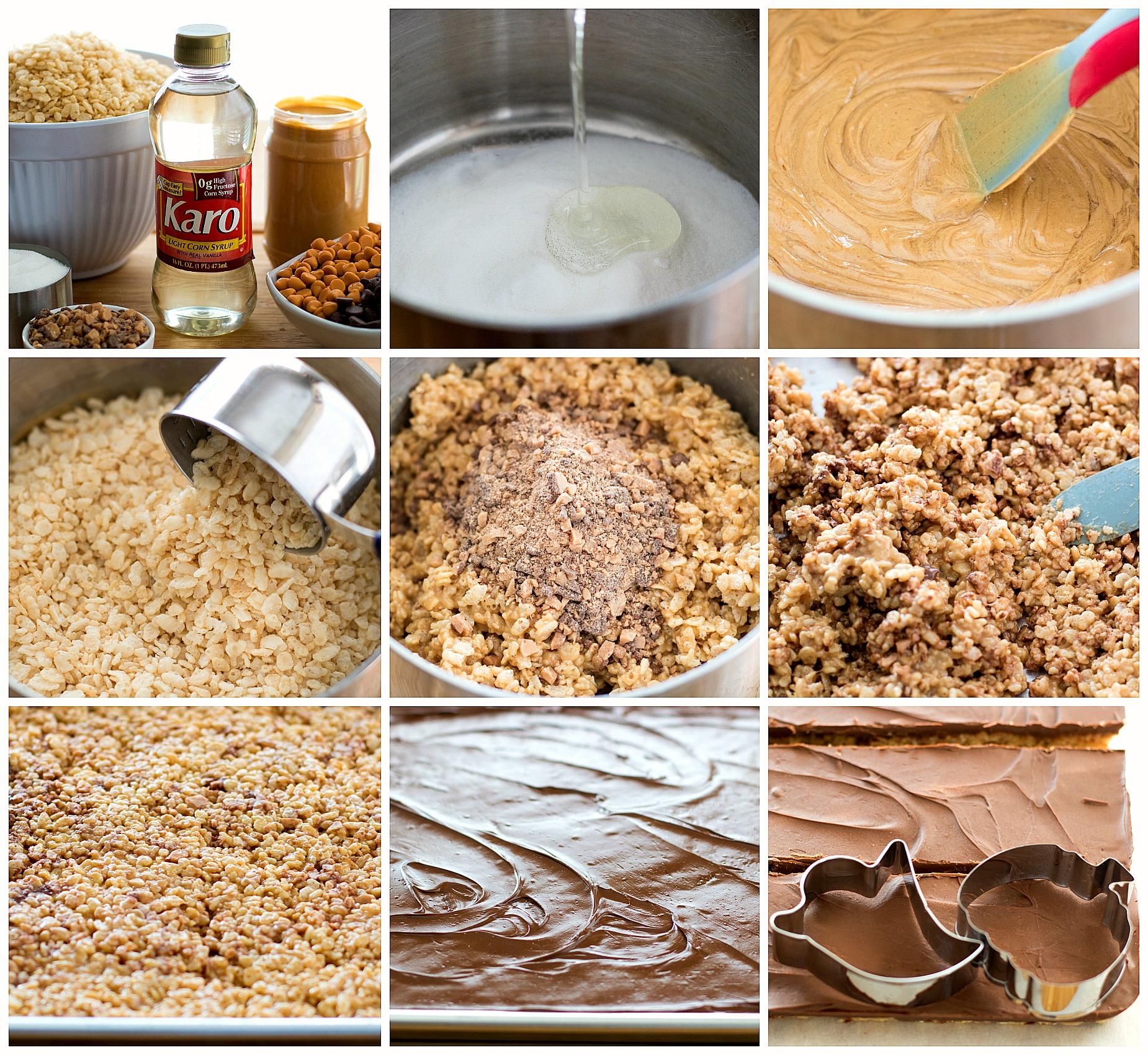ingredients to make Halloween scotcheroos