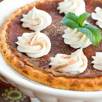 Snickerdoodle Buttermilk Pie Recipe