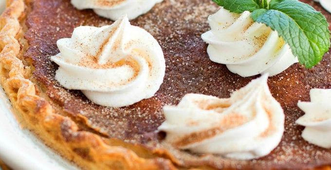 Snickerdoodle Buttermilk Pie