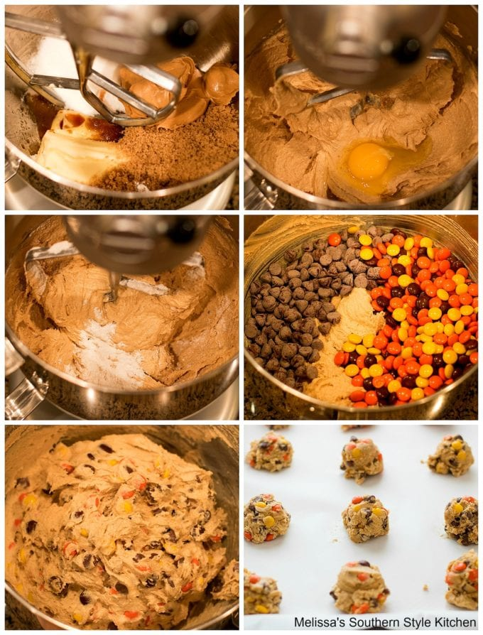 cookie dough ingredients in a mixing bowl