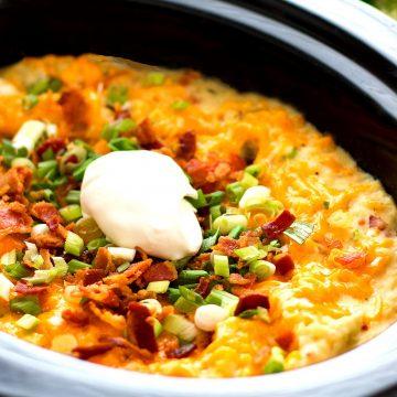 Slow Cooker Loaded Mashed Potato Casserole Recipe