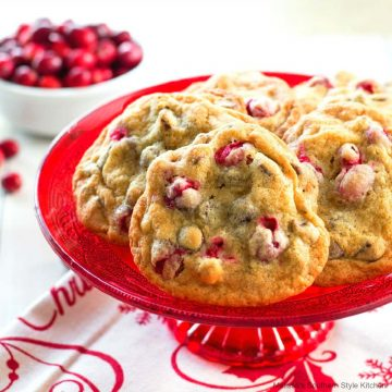 recipe for Cranberry Walnut Chocolate Chip Cookies