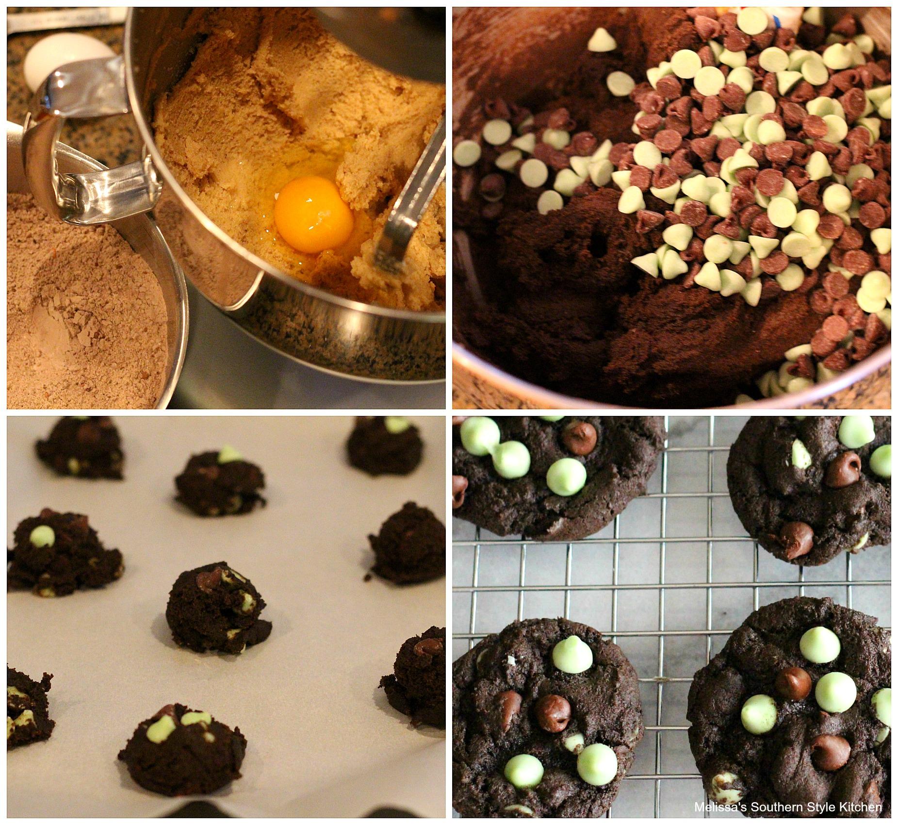 Dark Chocolate-Mint Brownie Cookies